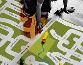 Your neighborhood custom map play mat - I am Here - LARGE