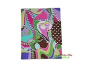 iPad case with pocket, book style, Organizer Style Mod Swirls Can be Made for Any Device