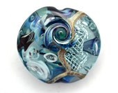 Seabed Series Lampworked Glass Focal Bead