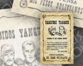 Wanted Poster from Butch Cassidy and the Sundance Kid
