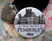 Mr Darcy My Heart Belongs At Pemberley pinback badge