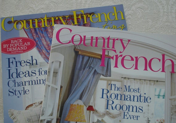 Country French Decorating Magazines By BoutiqueLisette On Etsy