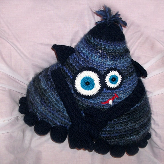 Crochet Pattern - Indigo Cuddle Monster