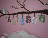 Individual Wooden Letters  CUSTOM made to match  Owl  Hayley