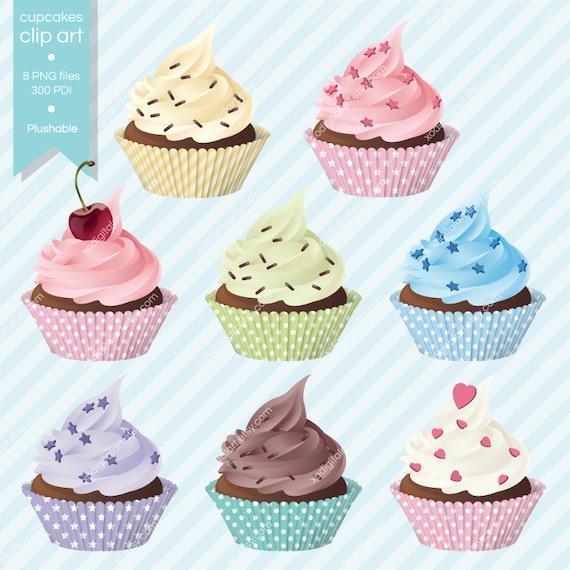 Items similar to Digital Cupcakes clip art, cupcake ...