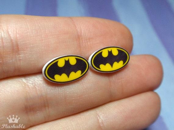 Batman earrings studs