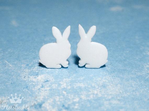 Tiny rabbit earrings, bunny earrings Easter Gift