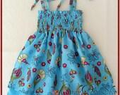 New baby, Cheesecloth Dress, Newborn dress, Spring and summer dress, baby girls Easter dress, Newborn soft dress, Size 0-3 months