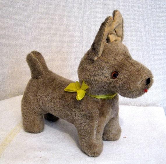 Vintage Dog 1950's Toy Brown Corgi Ziggy
