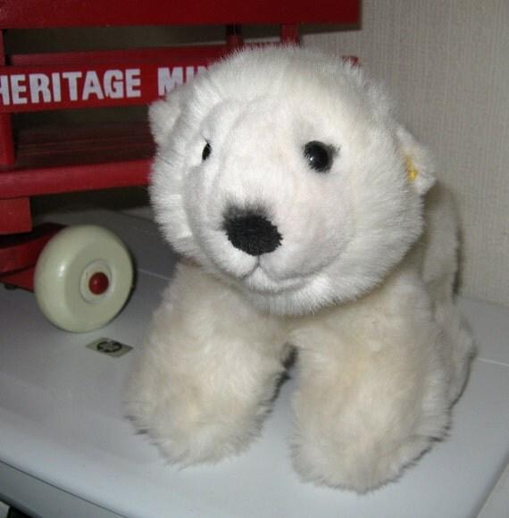 Steiff Bear Lommy Polar Bear Steiff Button