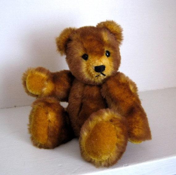 Miniature Mohair Artist Teddy Bear for Collectors OOAK Butterscotch