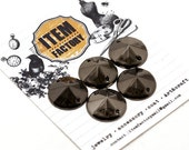 40Pcs 14mm SEWING Acrylic ConIcal Spikes Beads Charms Pendants Decoration Rockstar look Glam rock LeatherCraft.