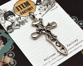 5Pcs Ornate Gothic Cross Charms Pendants