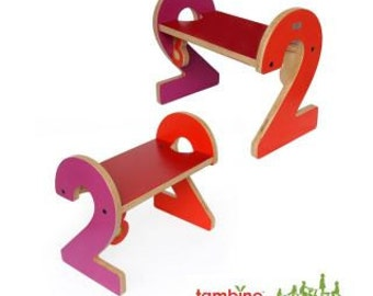 2-2 Stepstool in Red Hues
