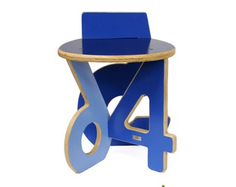 4-5-6 Stool in Blue Hues