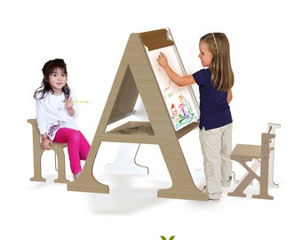 typographic drawing easel
