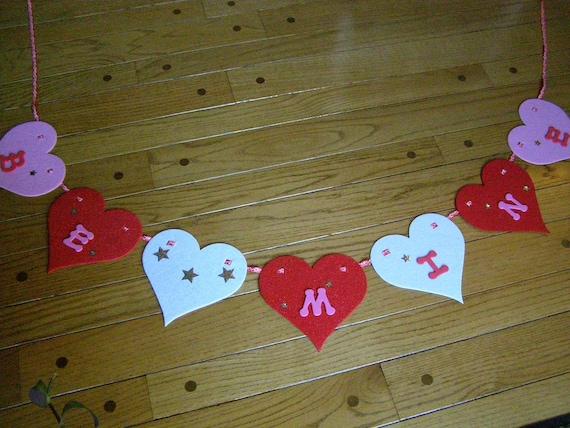 Valentine Garland BE MINE Banner Decoration