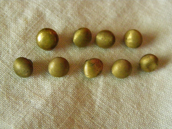 Tiny Gold Round Antique Shank Buttons