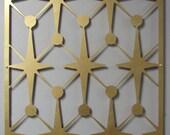 MOD Vegas Stars No 1 Floating Wall Art in 46 X 23 Warm Gold