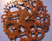 Rusted Steel Steampunk Adventure Wall Clock