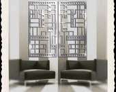 Prairie Panel No. 1 Pair in Brushed Aluminum FREE SHIPPING