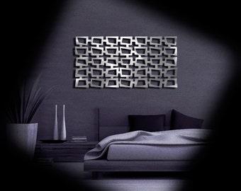 MOD Retro Squares No 2 23 X 46 Brushed Aluminum