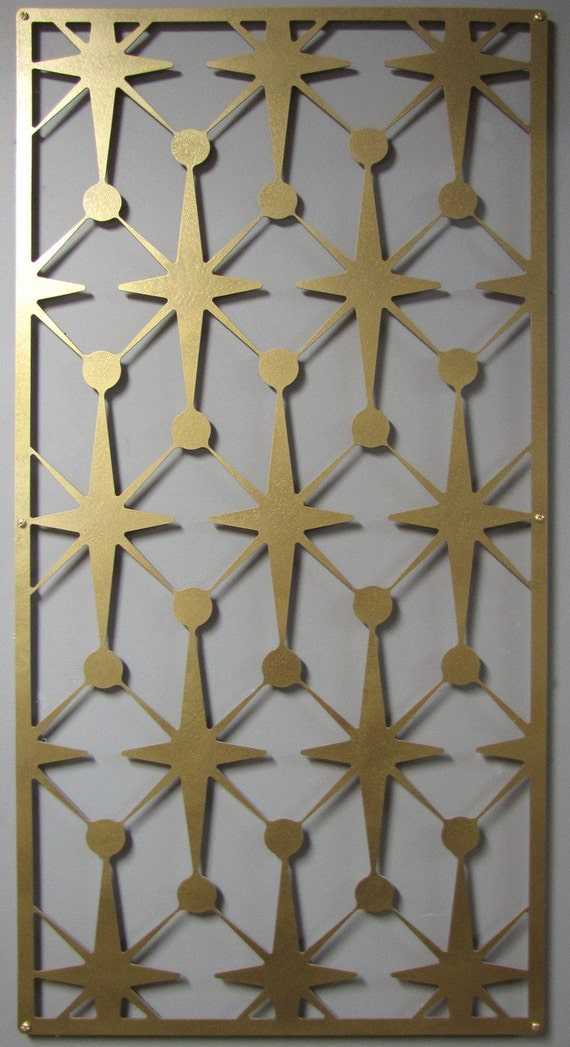 MOD Vegas Stars No 1 Floating Wall Art in 46 X 23 available in 21 colors FREE SHIPPING
