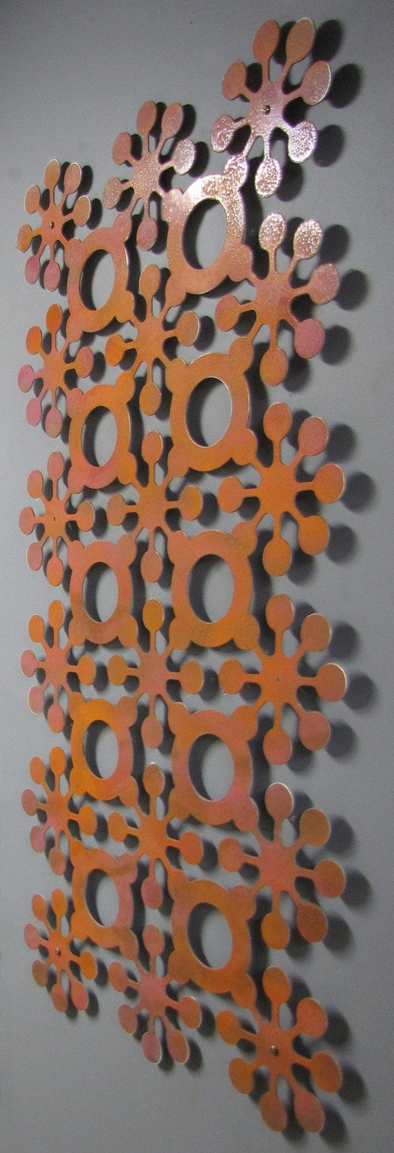 Mod Flowers No 1 Floating Wall Sculpture 23 X 46 available in 25 colors