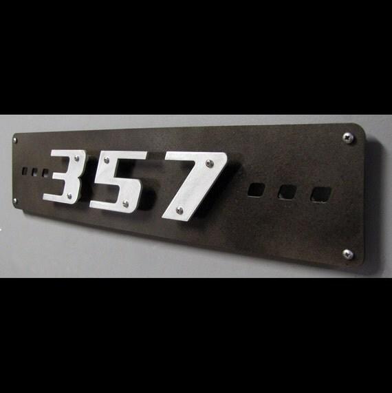 Custom modern floating house numbers 3 digit