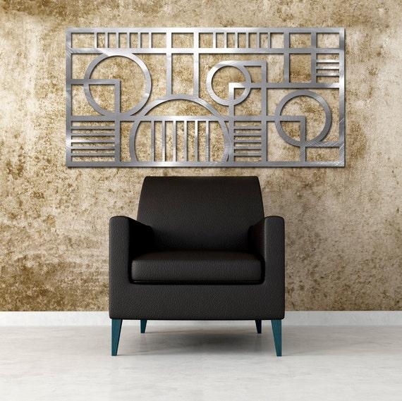Deco Panel No. 2 23 X 46 in Brushed Aluminum