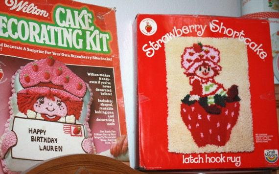 Strawberry Shortcake Wilton LATCH HOOK RUG Kit in Original box