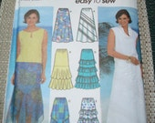 Simplicity Sewing Pattern 7227 Misses Size DD 4, 6, 8, 10 Skirts - 5 Styles Easy to Sew - New - UNCUT