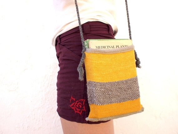 Perfect Pouch - Gold & Grey Hand Woven Tubular Purse