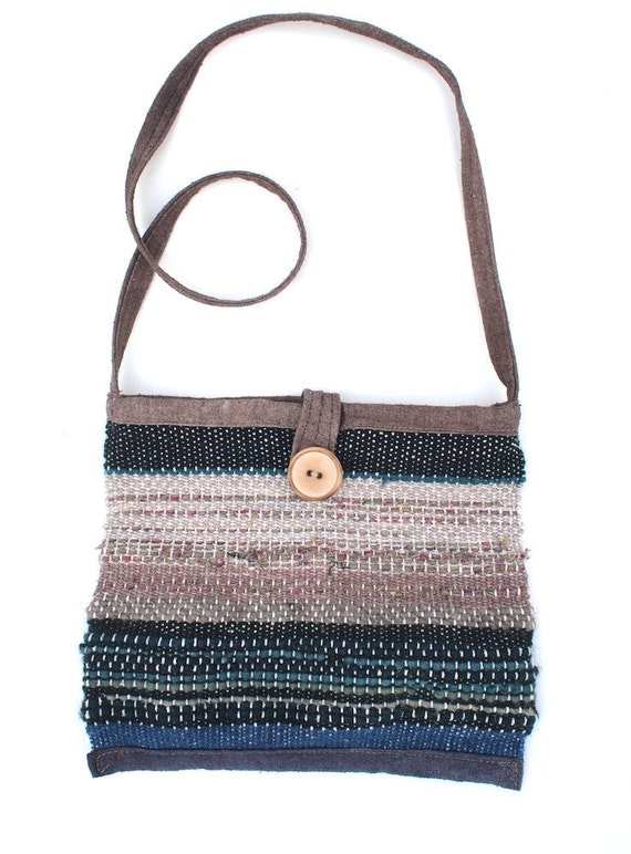 SALE! Funky Little Purse - Hand Woven in Silk, Cotton and Superfine Wools