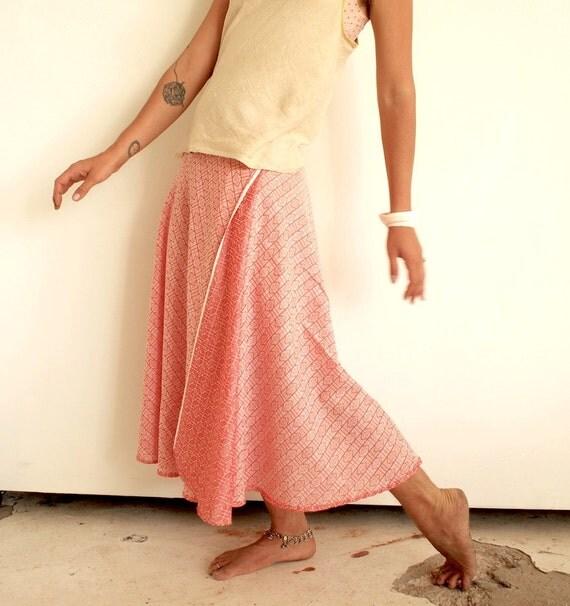 Sample Sale - Reversible Flowing Wrap Skirt