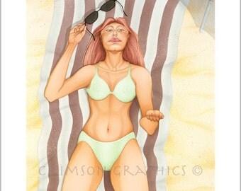 Pharoah's daughter sunbathing at Gaza
