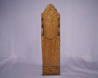 Quarter Sawn Oak Colonial Pipe Box