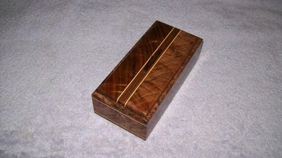 Fancy Walnut with Maple Inlay 4x8 Box Design 2