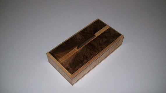 Fiddle Back Maple with Fancy Walnut top 4x8 Treasure Box