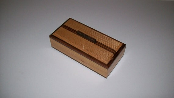 Ash with Rosewood inlay 4 x 8 box keepsake box or treasure box