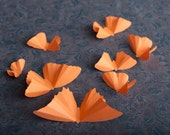 Sale! 3D Wall Butterflies, Cantaloupe Melon Butterfly Silhouettes for Girls Room, Nursery, and Home Decor