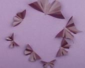 3D Butterfly Wall Art: Plum Metallic Silhouettes for Girls Room, Nursery, and Home Art Decor