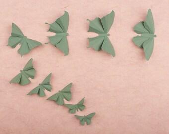 3D Butterfly Wall Art: Spruce Green Wall Butterflies for Girls Room, Nursery Decor