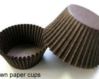 100 ct and 200 ct Chocolate Brown Greaseproof Cupcake Liners Standard size 2x1-1/4 Baking Cups Swedish paper