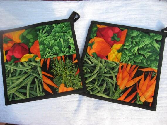 vegetable fabric potholders