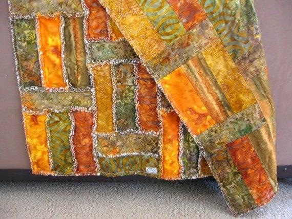 Autumn Colors Rag Quilt 45x45