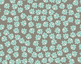 Verona  - Gray Leaves - C2802 - by Emily Taylor Design for Riley Blake Design  - 1/2 Yard