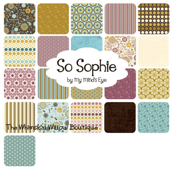 """So Sophie -  by My Mind's Eye for Riley Blake Design - 10"""" stacker or Layer Cake"""