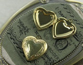 6 pcs   Vintage gold plated brass Locket Pendant  Charms/Pendants- 20X22mm (LOCK-15)