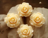 Limited discount Buy 1 Get 1 Free 20pcs Wholesale Beautiful Colorful Rose Flower Resin Cabochon  --20mm(CAB-BS-5)